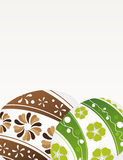 Green and brown Easter eggs Stock Image