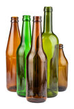 Green and brown empty bottles Royalty Free Stock Photo