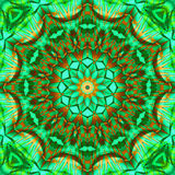 Green Brown Kaleidoscope. For moments of meditation Stock Photography
