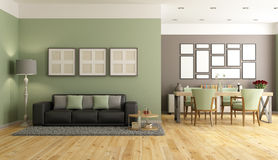 Green and brown modern lounge Stock Image