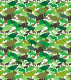 Green brown tree frogs camo pattern Stock Photo