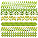 Green and brown trim or border collection Royalty Free Stock Photos