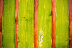 Green and brown vertical planks Royalty Free Stock Images
