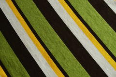 Green, Brown, White, Yellow Striped Background Royalty Free Stock Images
