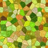 Green brown yellow orange marble irregular plastic stony mosaic seamless pattern texture background Stock Photos