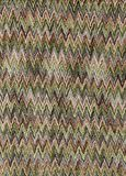 Green and Brown Zigzag Fabric Royalty Free Stock Photography