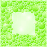Green Bubble Frame with Square Place for Text Royalty Free Stock Images