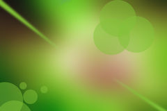 green bubble and light abstract background Royalty Free Stock Photography