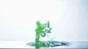 Green bubble. Splash inside water Stock Images