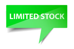 Green Bubble Talk - Limited Stock Royalty Free Stock Image