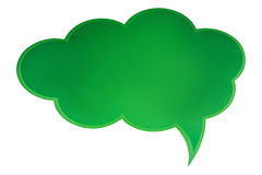 Green bubble talk. On a white background Royalty Free Stock Photo