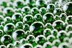 Green bubbles Royalty Free Stock Images