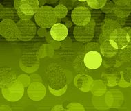 Green bubbles. Green abstract bubbles - digitaly made illustration royalty free illustration
