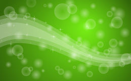 Green bubbles background royalty free illustration