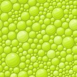 Green Bubbles Seamless Background with Shiny Soap Drops Royalty Free Stock Photos