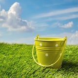 Green bucket Stock Photography