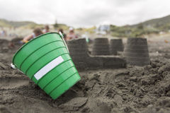 Green Bucket Stock Photo