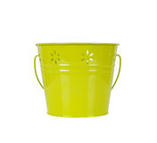 Green bucket isolated on white background. Springtime concept Royalty Free Stock Photos