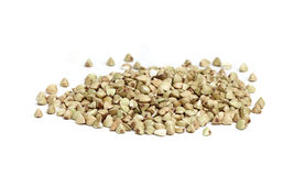 Green buckwheat groats. Royalty Free Stock Images