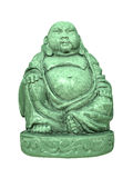 Green buddha. An image of a beautiful green buddha isolated on white Royalty Free Stock Images