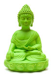 Green Buddha. Statue isolated on a white background royalty free stock photos