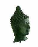 Green buddha head isolate. White background Royalty Free Stock Images