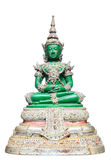 Green Buddha isolated Royalty Free Stock Images