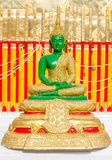 Green buddha on temple. Stock Photography