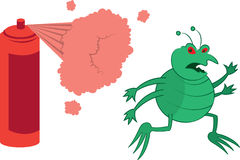 Green Bug Sprayed Royalty Free Stock Image