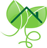 Green building. Vector icon for green building or sustainable building. Ideal for logos Royalty Free Stock Images