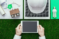 Green building and alternative energies Royalty Free Stock Image
