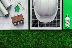Green building and alternative energies Royalty Free Stock Photo