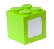 Green building block with copyspace Stock Image