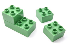 Green building blocks Stock Image