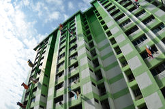 Green building with blue sky Royalty Free Stock Photos