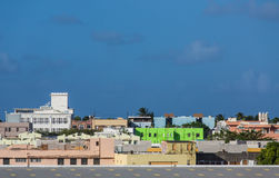 Green Building in Colorful San Juan Cityscape Stock Photo