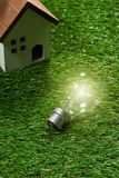 Green building house and energy saving concept.  stock images