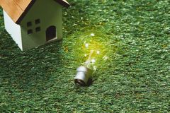 Green building house and energy saving concept.  stock photo