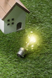 Green building house and energy saving concept.  royalty free stock photos