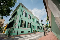 Green building. At old Taipa village macao Royalty Free Stock Images