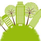 Green buildings Stock Photo