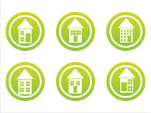 Green buildings signs Royalty Free Stock Photography