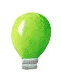 Green bulb. Acrylic illustration of green bulb Stock Photography
