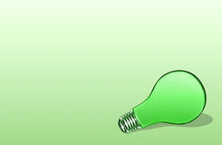 Green Bulb Royalty Free Stock Photography