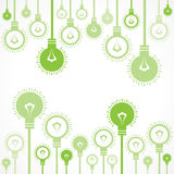 Green bulb background Royalty Free Stock Photos