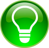 Green bulb button Stock Image