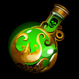 Green bulb close up with a magic potion Stock Image