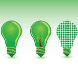 Green bulb color art vector illustration Royalty Free Stock Image