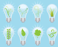 Green Bulb Concept. Great idea of environmentally friendly concept icons for your website, powerpoint, leaflet etc Royalty Free Stock Photo