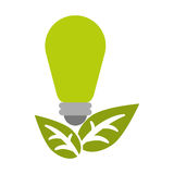 Green bulb environment ecological energy leaf Royalty Free Stock Images